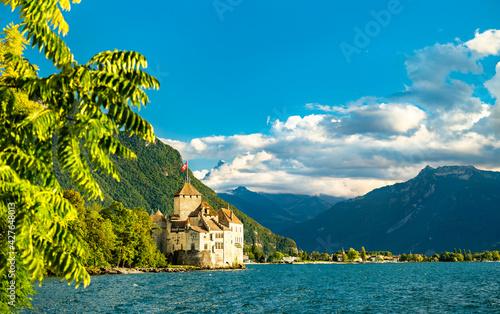Chillon Castle on Lake Geneva in Switzerland