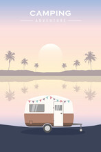 Tropical Camping Adventure Summer Holiday With Camper