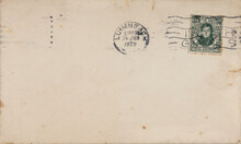 Briefumschlag Envelope Briefmarke Stamp Gestempelt Used Frankiert Cancel Vintage Retro Alt Old Irland Ireland Eire Dublin Dreckig Dirty Kaputt Damaged