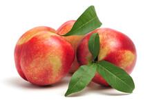 Ripe Peach On White Background