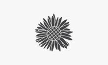 Daisy Chamomile Icon. Isolated On White Background.