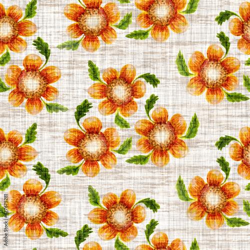 Tapety Prowansalskie  akwarela-slonecznikowy-motyw-tla-recznie-malowane-ziemisty-kaprysny-wzor-nowoczesna-tkanina-lniana-w-kwiaty-na-wiosenny-letni-wystroj-domu-dekoracyjna-kolorowa-natura-w-stylu-scandi-na-calym-nadruku