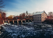 Manotick Grist Mill And Dam In Ontario