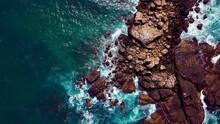 Rocks By The Ocean In Sunny Sri Lanka
