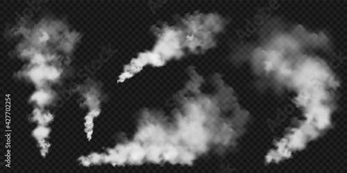 Stampa su Tela Realistic smoke clouds