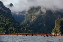Beautiful Nature At Cheow Lan Lake, Ratchaprapha Dam, Khao Sok National Park In Thailand