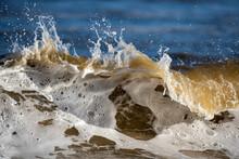 Close-up Of Waves Rushing Towards Shore