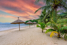 Tien Sa Beach - Paradise Beach At Tropical Coast Scenery In Da Nang - Travel Destination In Vietnam