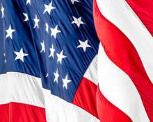 Full Length Of American Flag