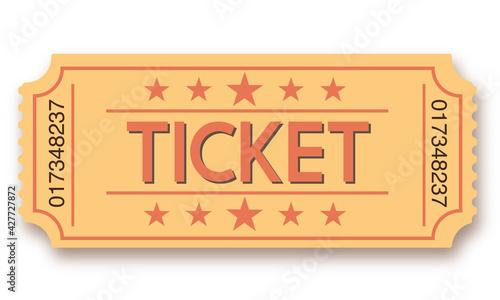 Obraz Admit one retro ticket - fototapety do salonu
