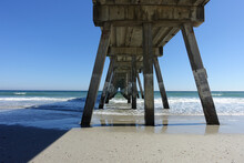 Fishing Pier At Wrightsville Beach Just Outside Of Wilmington,North Carolina