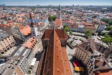 Aerial View Of Buildings In Town