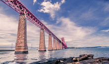 Low Angle View Of Forth Bridge Against Sky