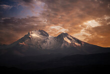 Sunset On The Erciyes Mountain