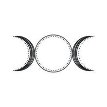 Triple Moon Goddess Symbol Icon Logo Tattoo Idea