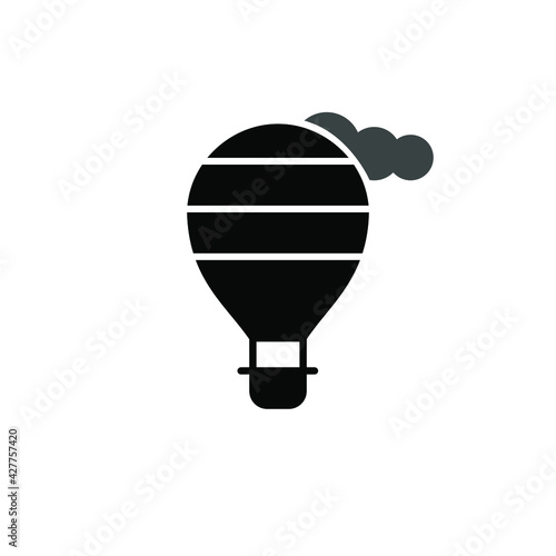 Fotografie, Tablou Illustration Vector graphic of Air balloon icon