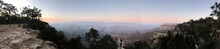 Panoramic View Of Trees And Mountains Against Sky In Grand Canyon.