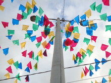 Some Flags Of The Feast Of St. John In The Interior Of Brazil