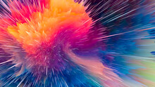 Abstract And Cool Background Of The Universe Explosion