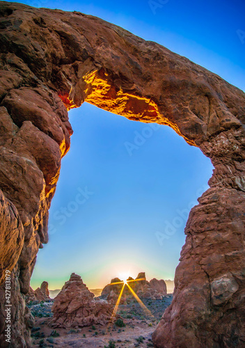 Chasing The Morning Light In Arches National Park Wallpaper Mural
