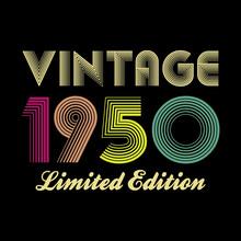 1950 Vector Vintage Retro Tshirt Design