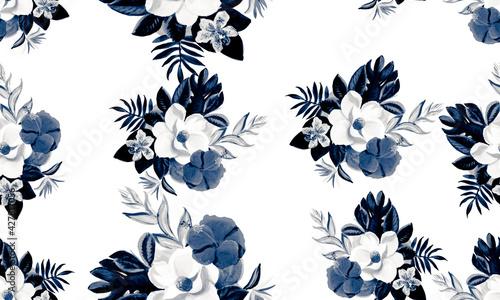 Canvas Print Cobalt Seamless Texture