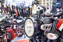 Motorcycle Headlight In Sport Shop