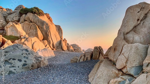 Rock Formations At Sunset - fototapety na wymiar