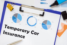 Financial Concept Meaning Temporary Car Insurance With Inscription On The Page.