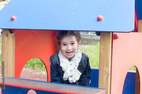 Fotografija Ritratto di una bambina di cinque anni molto bella e dolce.