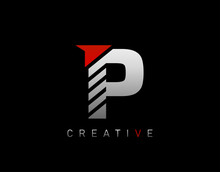 Creative Modern Letter P Logo, Abstract P Letter Logo Icon.