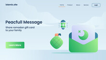 Peacefull Message In Ramadan For Website Template Landing Or Homepage Design