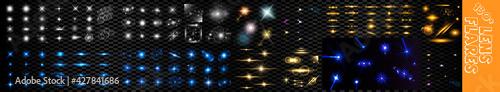Fotografia Set of lens flares and sun flares