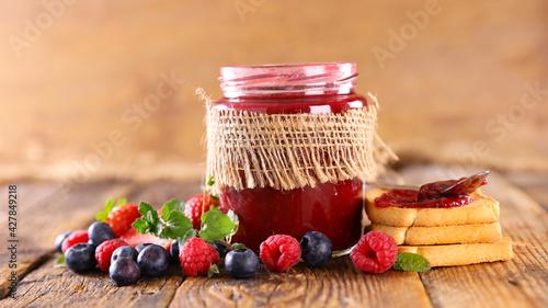 homemade jam with berry fruit