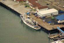 Noaa Ship Rainier S-221 At Coast Guard Base In Juneau, Ak. View From Mt. Roberts.