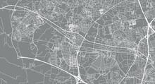 Urban Vector City Map Of Ballerup, Denmark