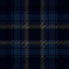 Dark Blue And Gray Plaid. Tartan Pattern For Textile, Paper And Other Prints.