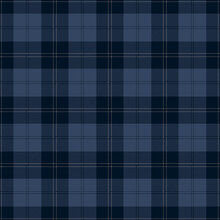 Dark Blue Plaid. Tartan Pattern For Textile, Paper And Other Prints.