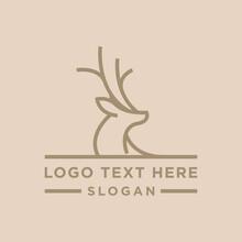 Deer Logo Design Template Premium