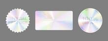 Product Certification Symbol. Hologram Sticker Set