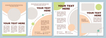 Fancy Colored Brochure Template. Flyer, Booklet, Leaflet Print, Cover Design With Copy Space. Nice Looking Presentation. Vector Layouts For Magazines, Annual Reports, Advertising Posters