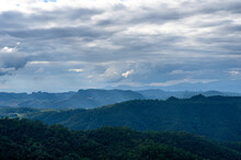 Scenic View Of Mountains Against Sky Pang Mapha , Mae Hong Son Province, Northern Thailand.