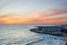 Viewpoint With Panoramic Landscape Of The Picturesque Village Of Ericeira At Sunset. Close To Lisbon This Fishing Village Is An Amazing Holiday Destination For Many Tourists.