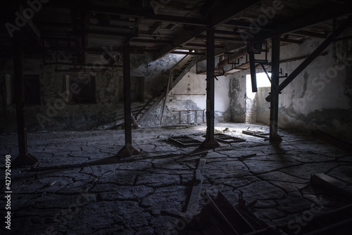 Fotografie, Obraz Abandoned industrial interior