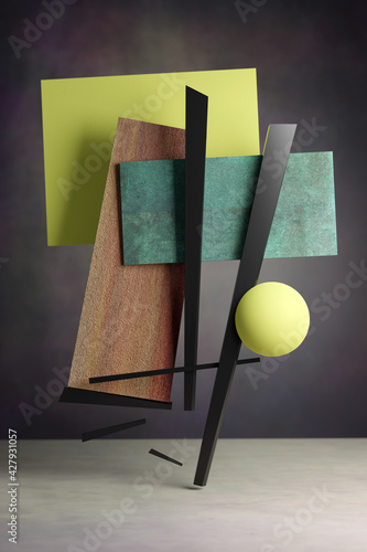 Obraz na plátně abstract 3D illustration