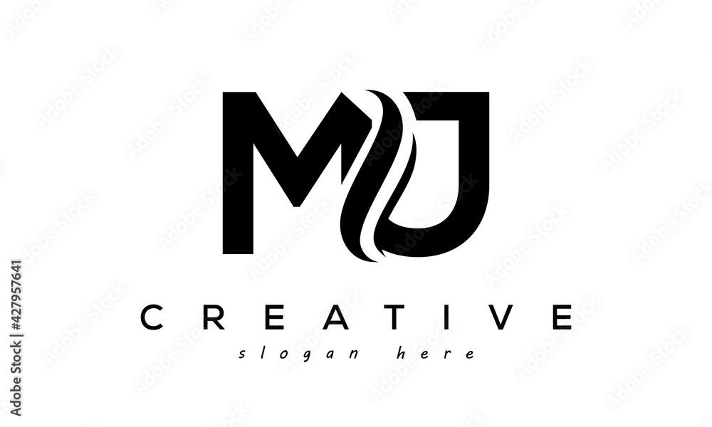Fototapeta Letter MJ creative logo design vector