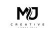 Letter MJ creative logo design vector