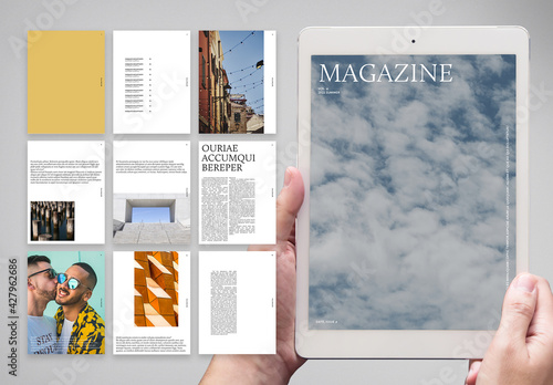 Indie Digital Magazine with Yellow Accents