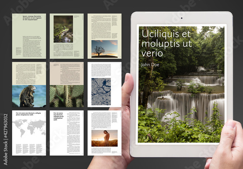 Sustainable Resilient Nature Design Digital Book Layout