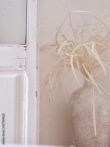 Aged vintage decoration in old classical house. Peniscola, Valencian Community, Spain